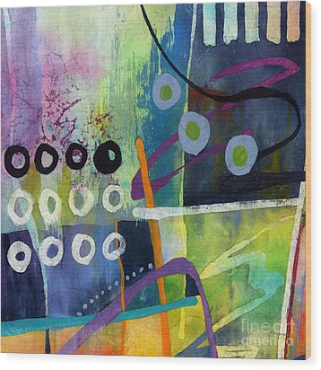 Wood Print featuring the painting Fresh Jazz In A Square 2 by Hailey E Herrera