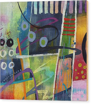 Wood Print featuring the painting Fresh Jazz In A Square by Hailey E Herrera