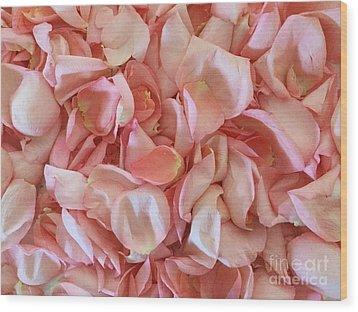 Fresh Rose Petals Wood Print