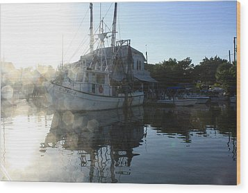 Fresh Shrimp Today Wood Print by Tara Moorman Photography