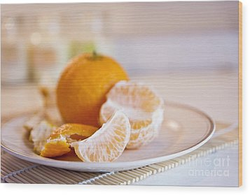 Wood Print featuring the photograph Freshly Peeled Citrus by Cindy Garber Iverson
