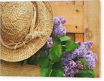 Freshly Picked Lilacs Wood Print by Sandra Cunningham