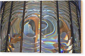 Fresnel Lens Wood Print by Larry Keahey