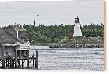 Friar's Head Lighthouse Wood Print