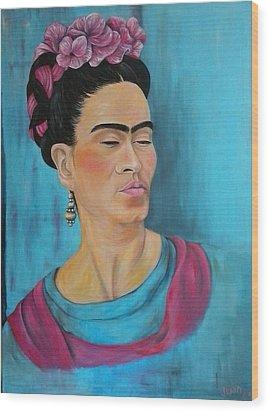Frida Wood Print