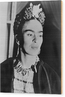 Frida Kahlo 1907-1954, Mexican Artist Wood Print by Everett