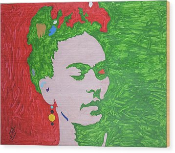 Frida Kahlo Wood Print by Stormm Bradshaw