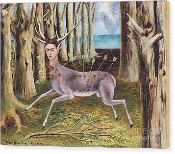 Frida Kahlo Venadito Wood Print by Pg Reproductions
