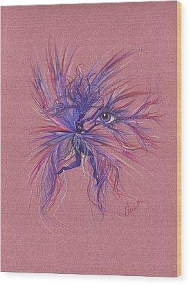 Friday Blue Wood Print by Dawn Fairies