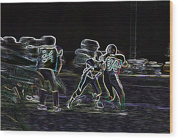 Friday Night Under The Lights Wood Print by Chris Thomas