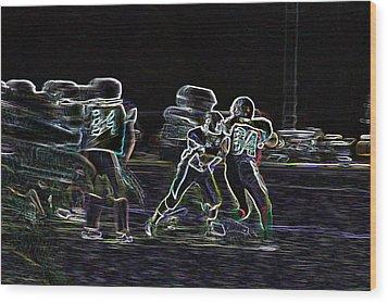 Friday Night Under The Lights Wood Print