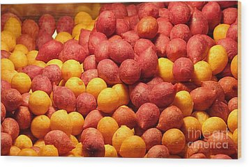 Wood Print featuring the photograph Fried Sweet Potato Balls by Yali Shi