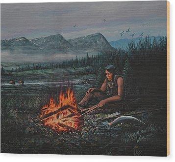 Friendly Fire Wood Print