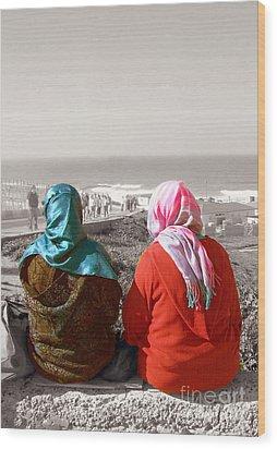 Friends, Morocco Wood Print