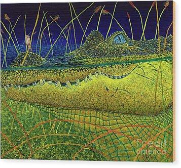 Swamp Gathering Wood Print