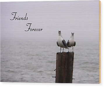 Friends Forever Wood Print