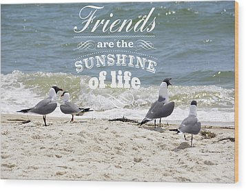 Wood Print featuring the photograph Friends In Life by Jan Amiss Photography