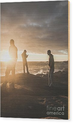 Wood Print featuring the photograph Friends On Sunset by Jorgo Photography - Wall Art Gallery
