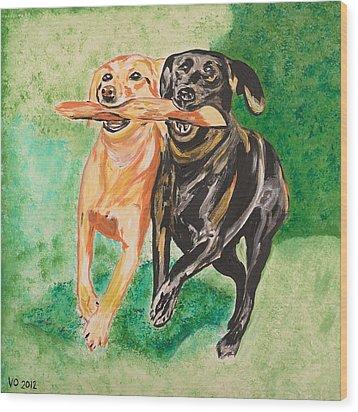 Friendship Wood Print by Valerie Ornstein