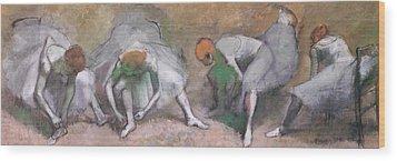 Frieze Of Dancers Wood Print by Edgar Degas