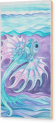 Frilled Fish Wood Print