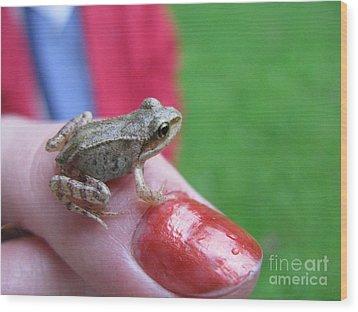 Wood Print featuring the photograph Frog The Prince by Ausra Huntington nee Paulauskaite