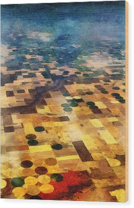 From Above Wood Print by Michelle Calkins