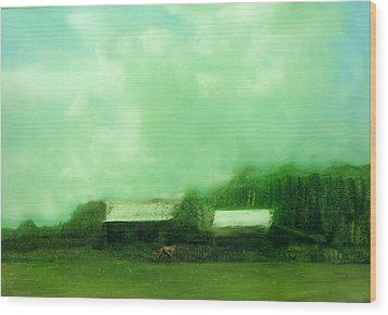 Wood Print featuring the painting From Ground To Sky by FeatherStone Studio Julie A Miller