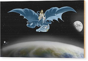 From Heaven To Earth Came Wood Print by Devaron Jeffery