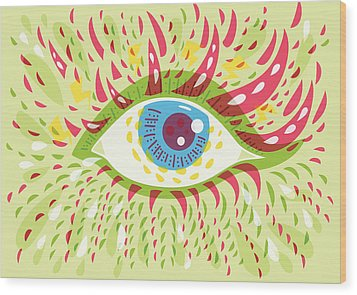 From Looking Psychedelic Eye Wood Print