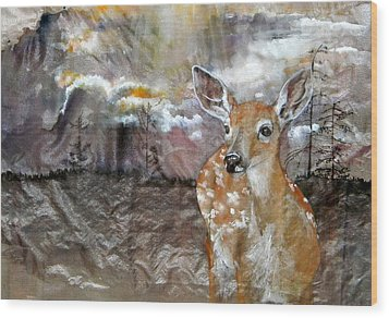 Wood Print featuring the painting From My Eyes I See by Debbi Saccomanno Chan