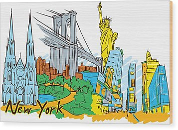 From Old To New York Wood Print by Stanley Mathis