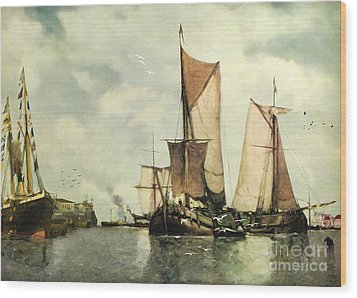 From Sail To Steam - Transitions Wood Print by Lianne Schneider
