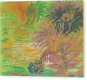 From Tahiti With Love Wood Print by Anne-Elizabeth Whiteway