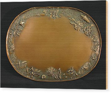 From The Foothills Bronze Tray Wood Print by Dawn Senior-Trask