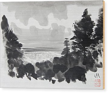 From The Hill Wood Print