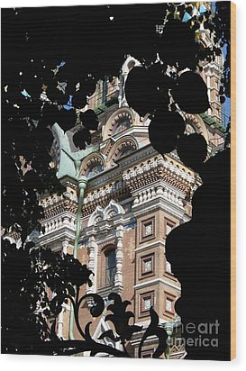 Wood Print featuring the photograph From The Park by Robert D McBain