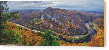 Wood Print featuring the photograph From The Top Of Mount Tammany by Mark Papke