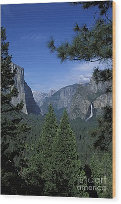 Wood Print featuring the photograph From Tunnel View In Spring by Stan and Anne Foster