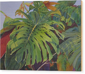 Fronds And Foliage Wood Print