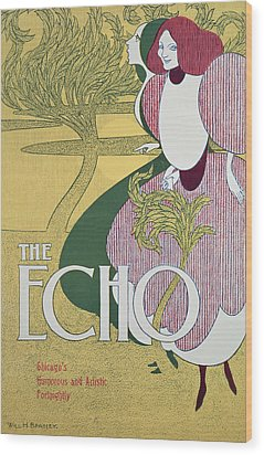 Front Cover Of The Echo Wood Print by William Bradley