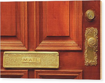 Front Door French Quarter Wood Print by KG Thienemann