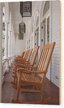 Front Porch Wood Print by Kelly Wade