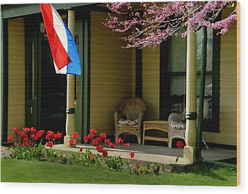 Front Porch Wood Print by Lyle  Huisken