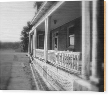 Front Porch Secrets Wood Print by Terry  Wiley