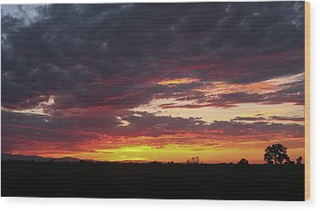 Front Range Sunset Wood Print by Monte Stevens