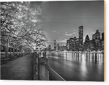 Wood Print featuring the photograph Front Row Roosevelt Island by Az Jackson