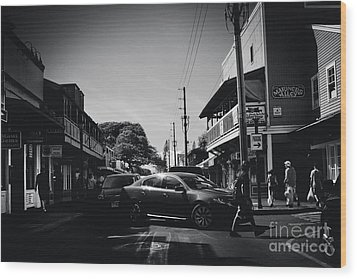 Wood Print featuring the photograph Front Street  by Sharon Mau