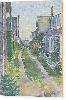 Front Street Siasconset Nantucket Wood Print