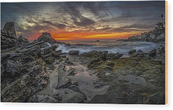 Wood Print featuring the photograph Front Yards Of Laguna Beach by Sean Foster